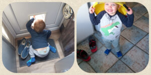 Toddler seeking out danger!
