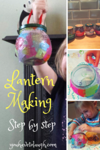 Lantern making - a step by step toddler/preschooler craft tutorial for empty jars!