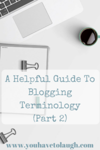 guide to blogging terminology