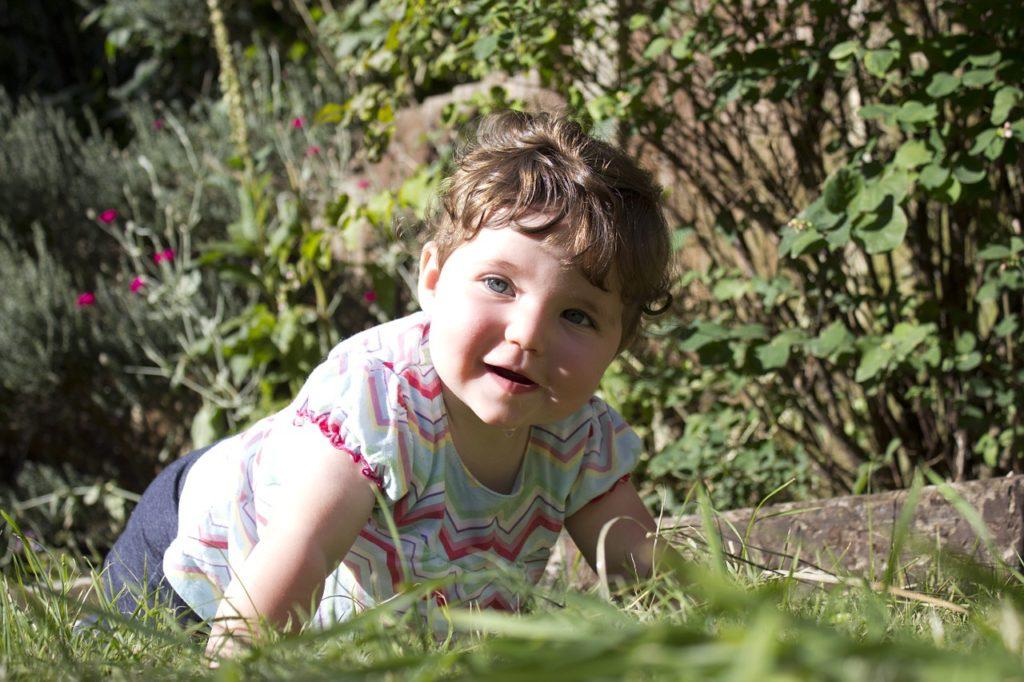 baby in garden