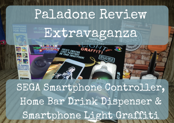 Paladone Review Extravaganza: SEGA Saturn Smartphone Controller, Home Bar Drink Dispenser & Smartphone Light Graffiti