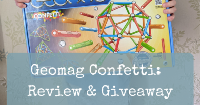 Geomag Confetti:  Review & Giveaway