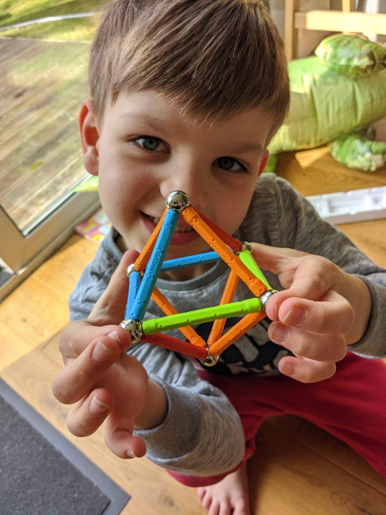 Joshu'a very first Geomag Confetti shape