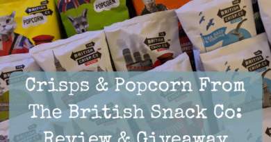 Crisps & Popcorn From The British Snack Co: Review & Giveaway