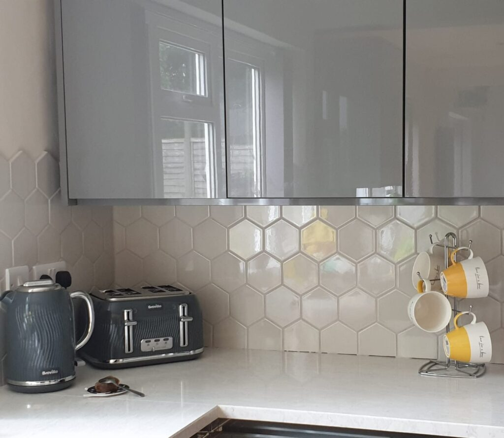 Our completed kitchen, following years of home improvements