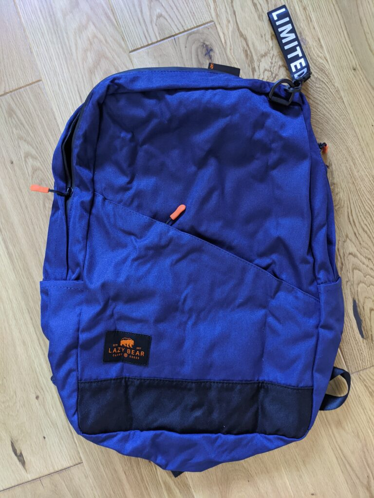 Lemont Blue Foldable Backpack by Lazy Bear from Trendhim