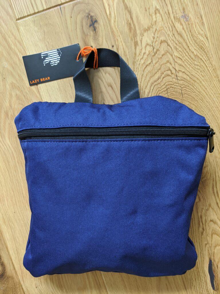 Lemont Blue Foldable Backpack by Lazy Bear