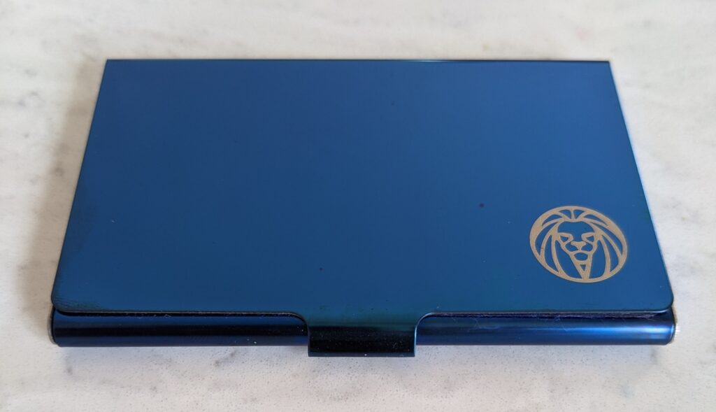 Blue Credit Card Holder by Lucleon from Trendhim