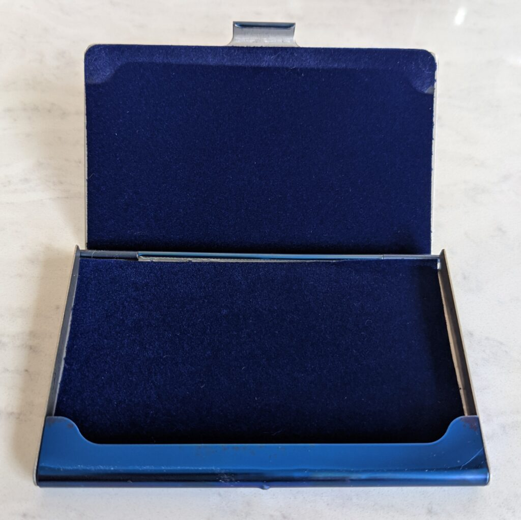 Blue Credit Card Holder by Lucleon