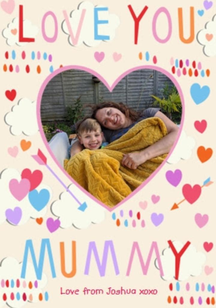 Moonpig personalised card for mum