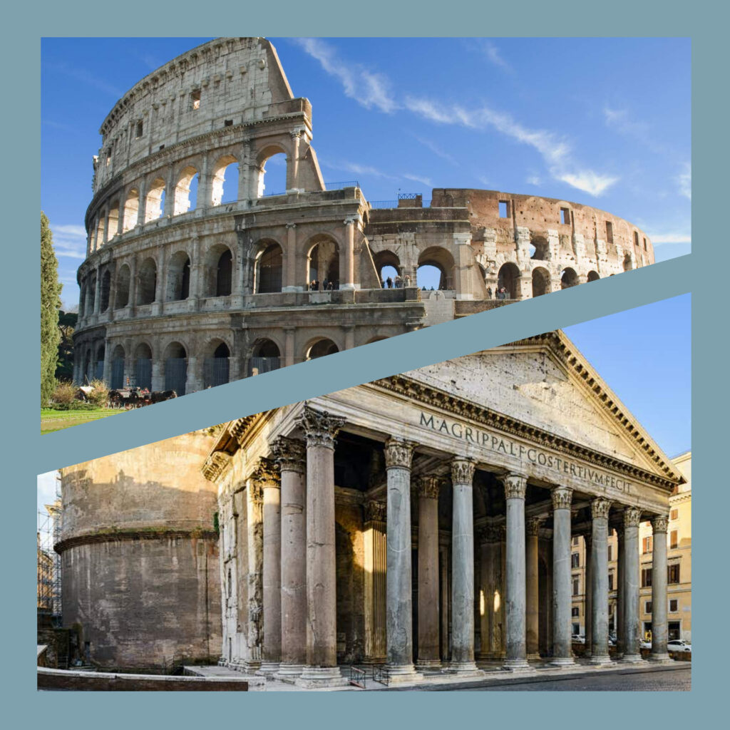 The magic of Italy - Colosseum and Pantheon