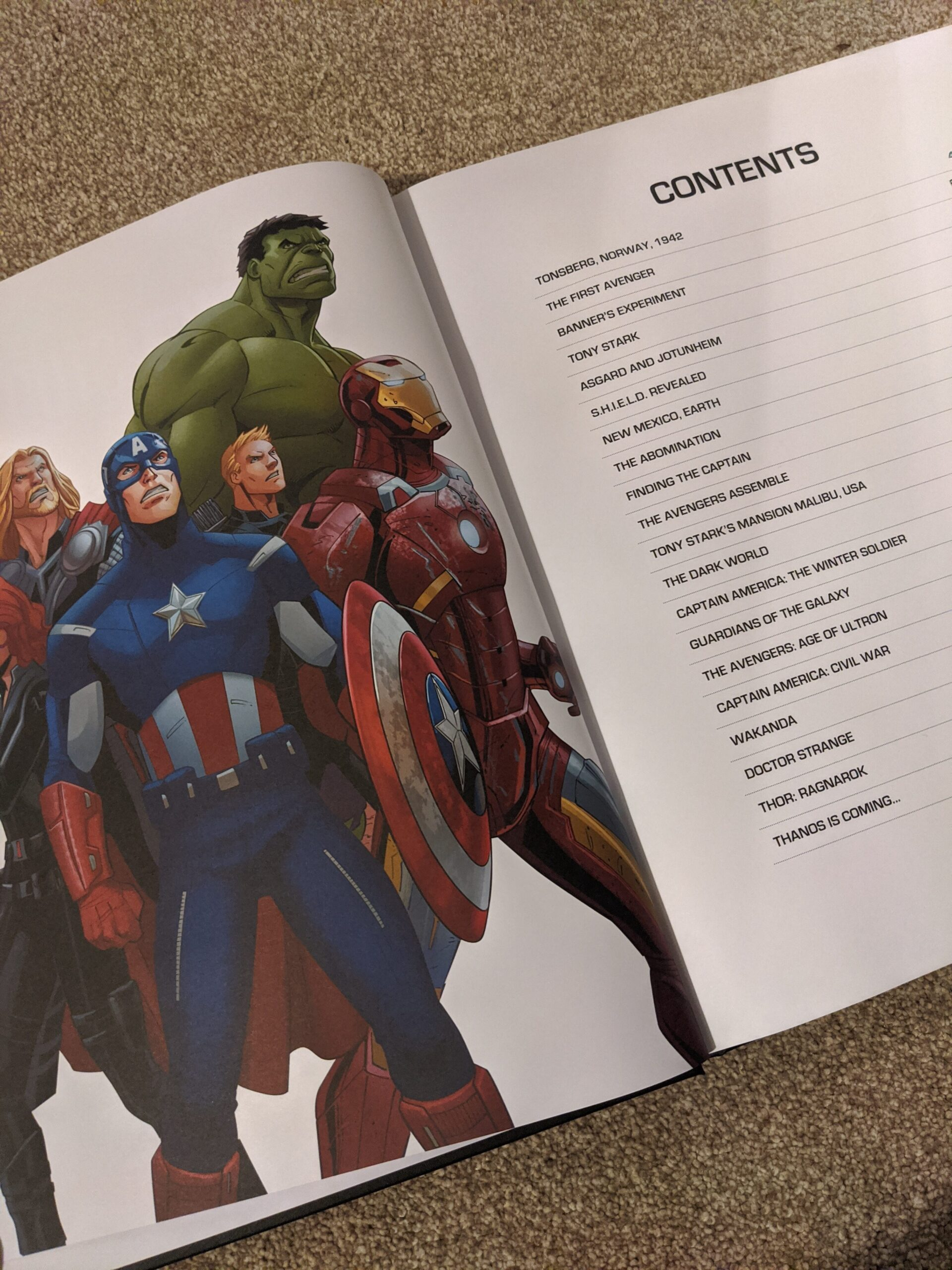 Marvel Studios Anniversary Collection contents
