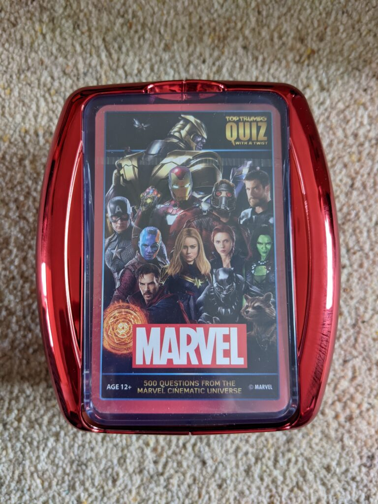 Marvel gift ideas - Top Trumps Quiz