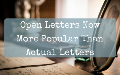Open Letters Now More Popular Than Actual Letters
