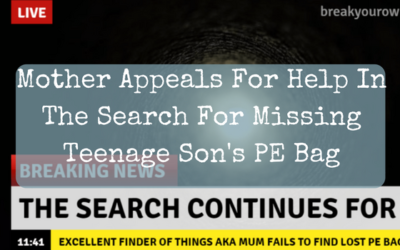 Mother Appeals For Help In The Search For Missing Teenage Son's PE Bag